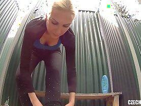 Czech Blonde MILF in Shower