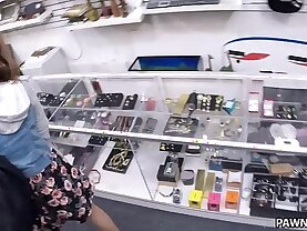 College Student Banged in my pawn shop! XXX Pawn