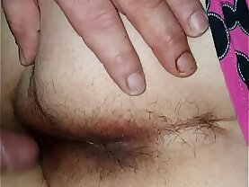 Fucking my sleeping wife again and big cumshot on her ass
