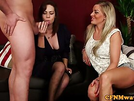 Cfnm hottie Charlie Holays sucking and riding cock