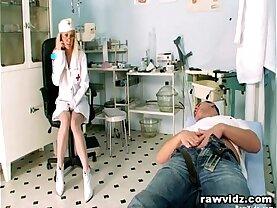 Horny Nurse Rides Her Cock