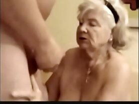 years old granny suck his dick
