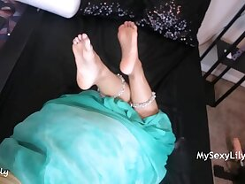 Indian Step Mom Horny Lily Having Sex With Her Son While Talking To Her Husband On Phone