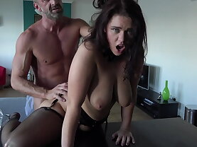 Shoots her first porno for daddy