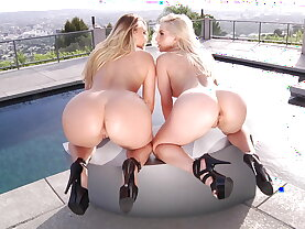 PAWG blondes love raw anal