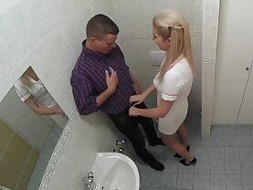 Nurse sucks dick for sperm sample
